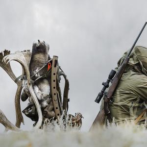 Hunting – Caribou Hunt – Hunter Scouting Sitting