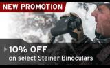 New Promotion! 10% Off Select Steiner Binoculars